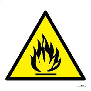 Do not light near flammable materials