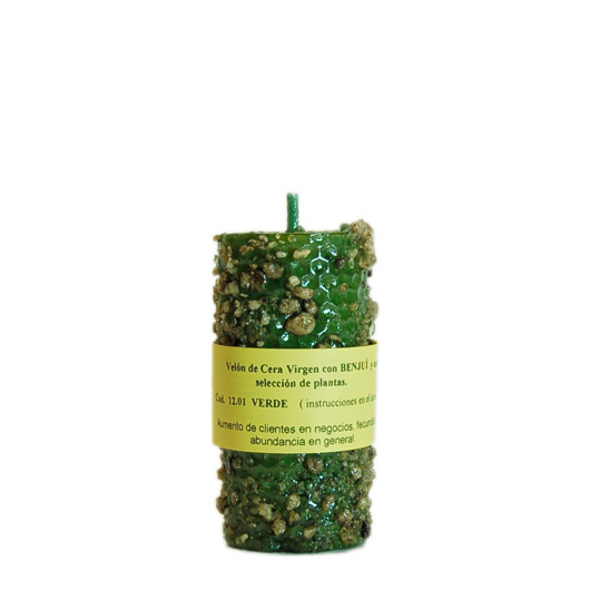 CANDLE BENZOIN green
