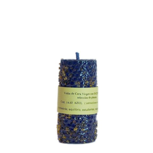 CANDLE INCENSE blueCANDLE INCENSE blue with a selection of plants, clean negative energies, provides a restful sleep, fosters visions and facilitates meditation. It makes students assimilate the material more easily. It…