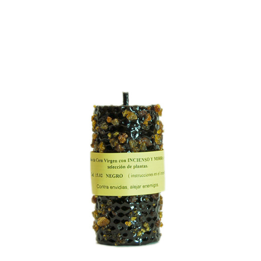 CANDLE INCENSE MIRRH black