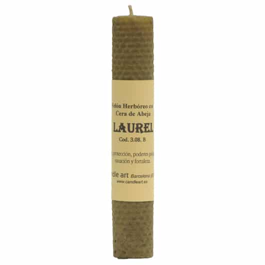 BOUGIE LAURIER cire vierge aux herbes