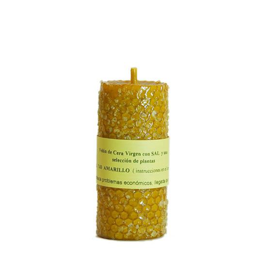 VELA SAL amarelo cera virgem com ervasVELA SAL amarelo cera virgem com ervas. Resolve problemas económicos em pessoas e negócios. Facilita a entrada de dinheiro através de um melhor rendimento…