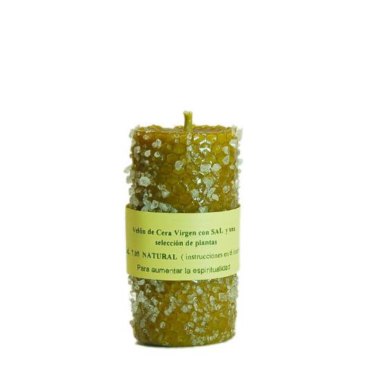 BOUGIE SEL naturel cire vierge et une sélection de plantes BOUGIE SEL naturel cire vierge et une sélection de plantes.C'est un cierge conçu pour le recueillement, facilite la connexion du monde…