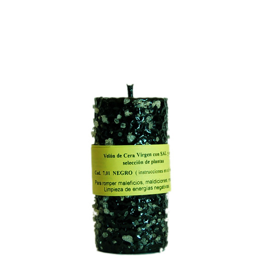 CANDLE SALT black beeswax
