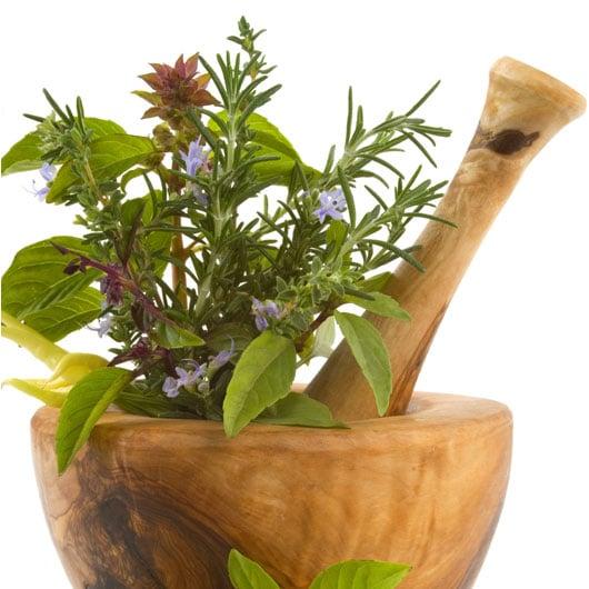 Candele cera d'api con piante