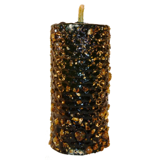 CANDLE BENZOIN greenvirgin wax with a selection of plants