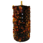 CANDLE MIRRH black virgin wax with a selection of plants