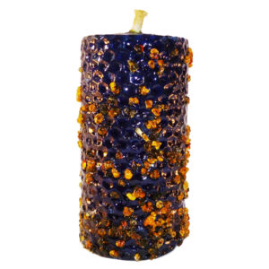 CANDLE INCENSE blue with a selection of plants