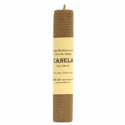 CANDLE CINNAMON beeswax with herbs