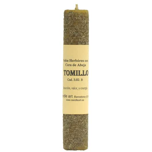 CANDLE THYME beeswax with herbs
