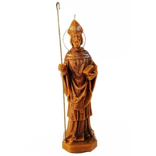 Bougie SAINT CYPRIEN Saint en cire abeille en cire vierge.Demandes de protection contre les maléfices, les magies négatives.Vous pouvez renforcer le rituel