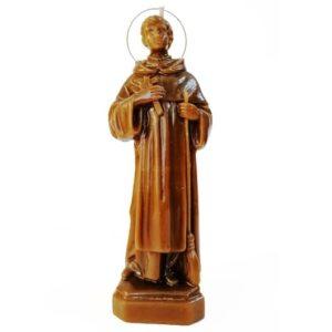BOUGIE SAINT MARTIN DE PORRES en cire vierge.Aide lors des guérisons et le sacrifice, ouvre des portes et des chemins.Vous pouvez renforcer le rituel avec